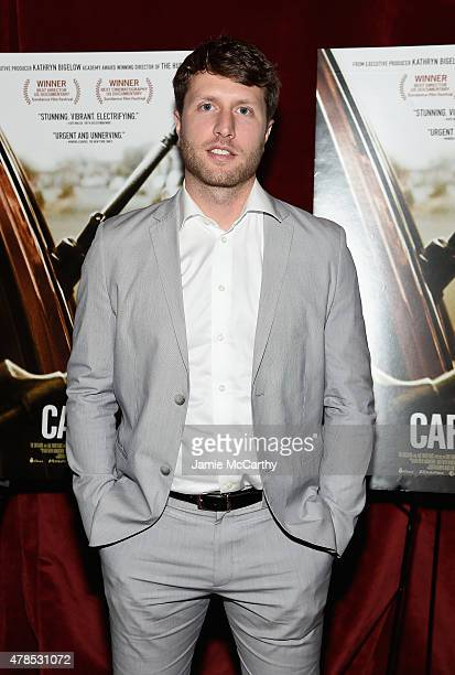 Director Matthew Heineman attends Seth Meyers with the Orchard and the Cinema Society Host a Special Screening of Cartel Land at Tribeca Grand Hotel...