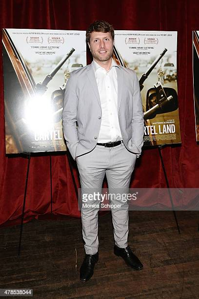 Director Matthew Heineman attends Seth Meyers With The Orchard The Cinema Society Host A Special Screening Of Cartel Land at Tribeca Grand Screening...