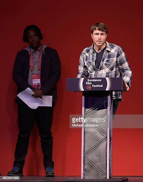 Director Matthew Heineman of Cartel Land accepts the US Documentary Directing Award onstage at the Awards Night Ceremony during the 2015 Sundance...