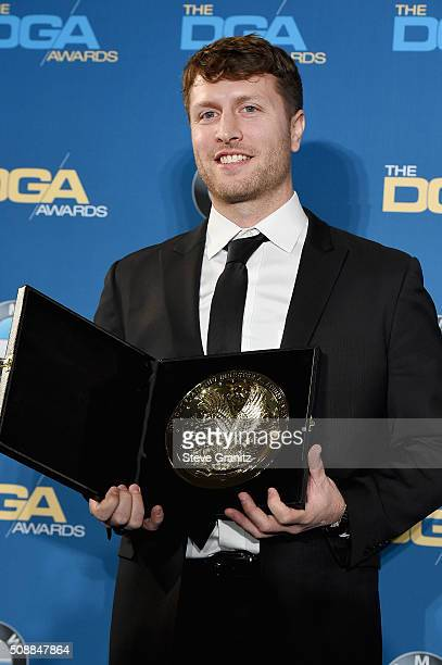 Director Matthew Heineman winner of the Outstanding Directorial Achievement in Documentary Award for Cartel Land poses in the press room during the...