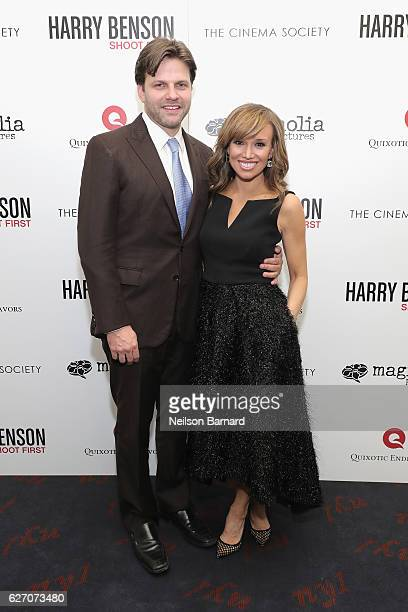 Director Matthew Miele and Sara Gore attend the Magnolia Pictures The Cinema Society host the premiere of 'Harry Benson Shoot First' at the Beekman...