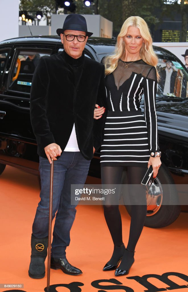 Director Matthew Vaughn (L) and Claudia Schiffer attend the World Premiere of 'Kingsman: The Golden Circle' at Odeon Leicester Square on September 18, 2017 in London, England.