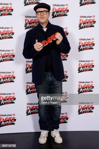 Director Matthew Vaughn winner of Best Thriller for 'Kingsman The Golden Circle' poses in the winners room at the Rakuten TV EMPIRE Awards 2018 at...