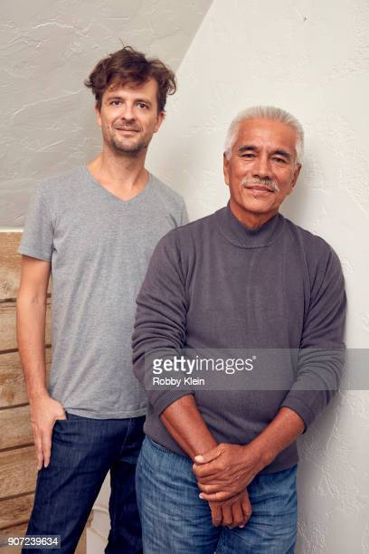 Director Matthieu Rytz and Former President of Kiribati Anote Tong from the film 'Anote's Ark' pose for a portrait in the YouTube x Getty Images...