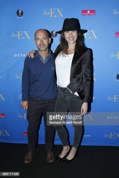 Director Maurice Barthelemy and Actress Zoe Duchesne attend 'les Ex' Paris Premiere at Cinema Gaumont Capucine on June 6 2017 in Paris France