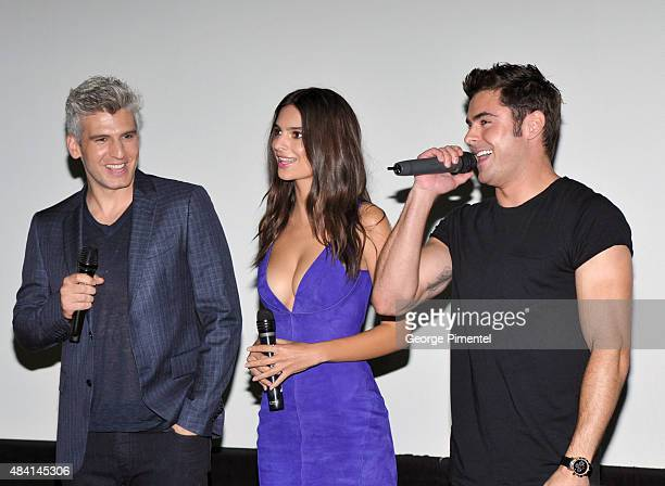 Director Max Joseph actors Emily Ratajkowski and Zac Efron attend the Canadian Premiere of Warner Bros Pictures We Are Your Friends at Scotiabank...