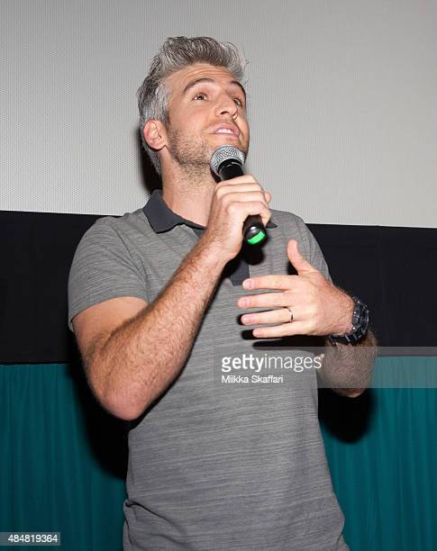Director Max Joseph introduces We Are Your Friends for the audience on August 21 2015 in San Francisco California