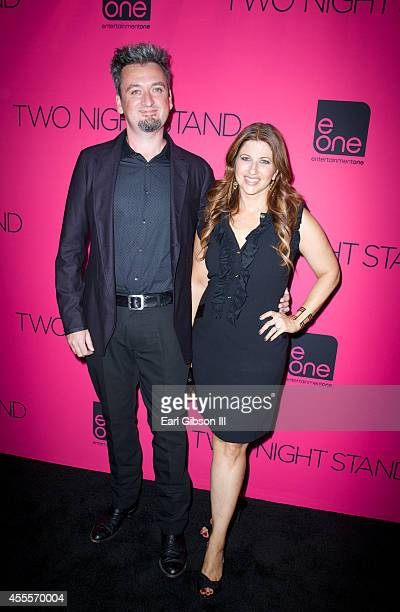 Director Max Nichols and Sports Journalist Rachel Nichols attend the premiere of eOne Films Two Night Stand at TCL Chinese 6 Theatres on September 16...