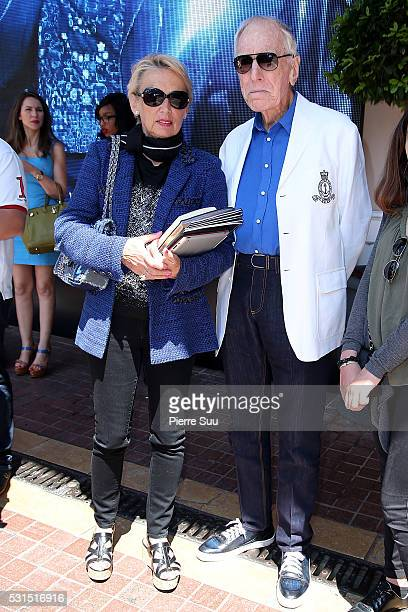 Director Max Von Sydow and his Wife Catherine Brelet pose at the Majestic Hotel during the 69th Annual Cannes Film Festival on May 15 2016 in Cannes