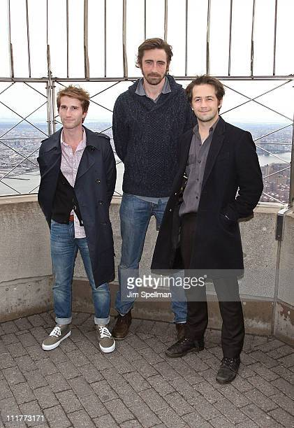 Director Max Winkler actor Lee Pace and actor Michael Angarano visit The Empire State Building on April 6 2011 in New York City