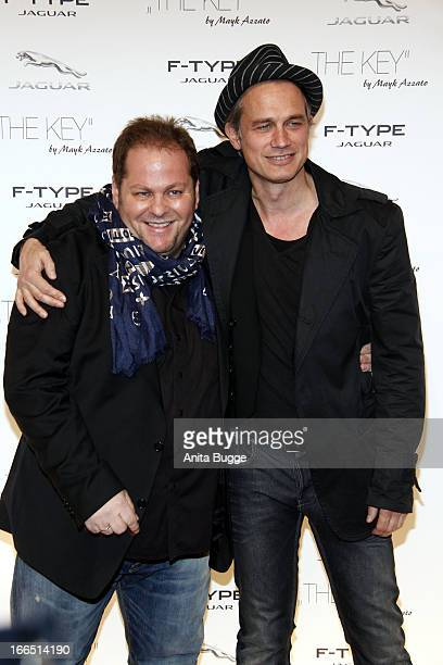 Director Mayk Azzato and Ralf Bauer attend the Jaguar F-Type commercial short movie 'The Key' premiere at e-Werk on April 13, 2013 in Berlin, Germany.