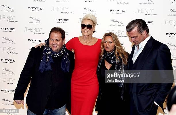 Director Mayk Azzato, Brigitte Nielsen, Francesca Azzato and Ray Stevenson attend the Jaguar F-Type commercial short movie 'The Key' premiere at...