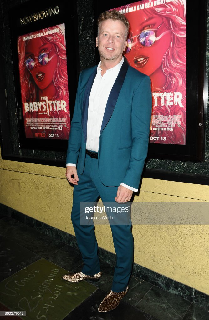 Director McG attends the premiere of 'The Babysitter' at the Vista Theatre on October 11, 2017 in Los Angeles, California.
