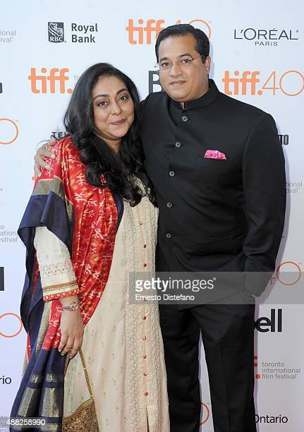 Director Meghna Gulzar and Govind Sandhu attend the Guilty photo call during the 2015 Toronto International Film Festival at Ryerson Theatre on...