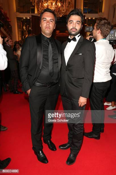 Director Mehdi Fard Ghaderi and actor Yaser Jafari during the opening night party of the Munich Film Festival 2017 at Hotel Bayerischer Hof on June...