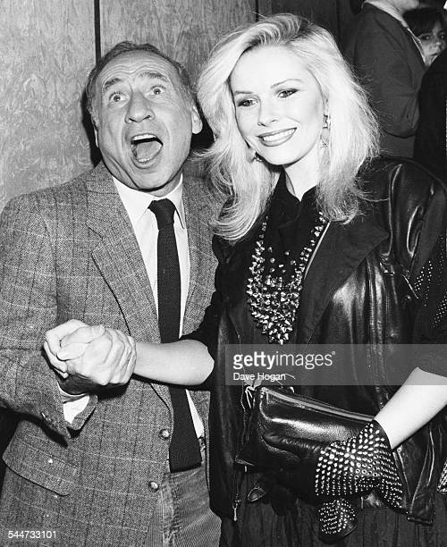Director Mel Brooks and actress Pamela Stephenson at the premiere of the movie 'To Be or Not to Be' London February 20th 1984