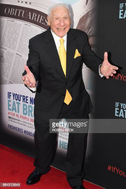 Director Mel Brooks attends the premiere of the HBO documentary If Youre Not In the Obit Eat Breakfast May 17 2017 at the Samuel Goldwyn Theatre in...