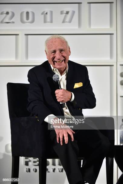 Director Mel Brooks speaks onstage at the screening of 'High Anxiety' during the 2017 TCM Classic Film Festival on April 7 2017 in Los Angeles...
