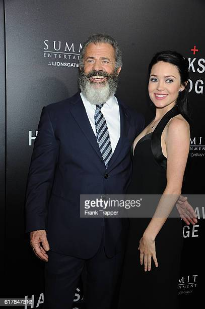 Director Mel Gibson and Rosalind Ross attend the screening of Summit Entertainment's Hacksaw Ridge held at the Samuel Goldwyn Theater on October 24...