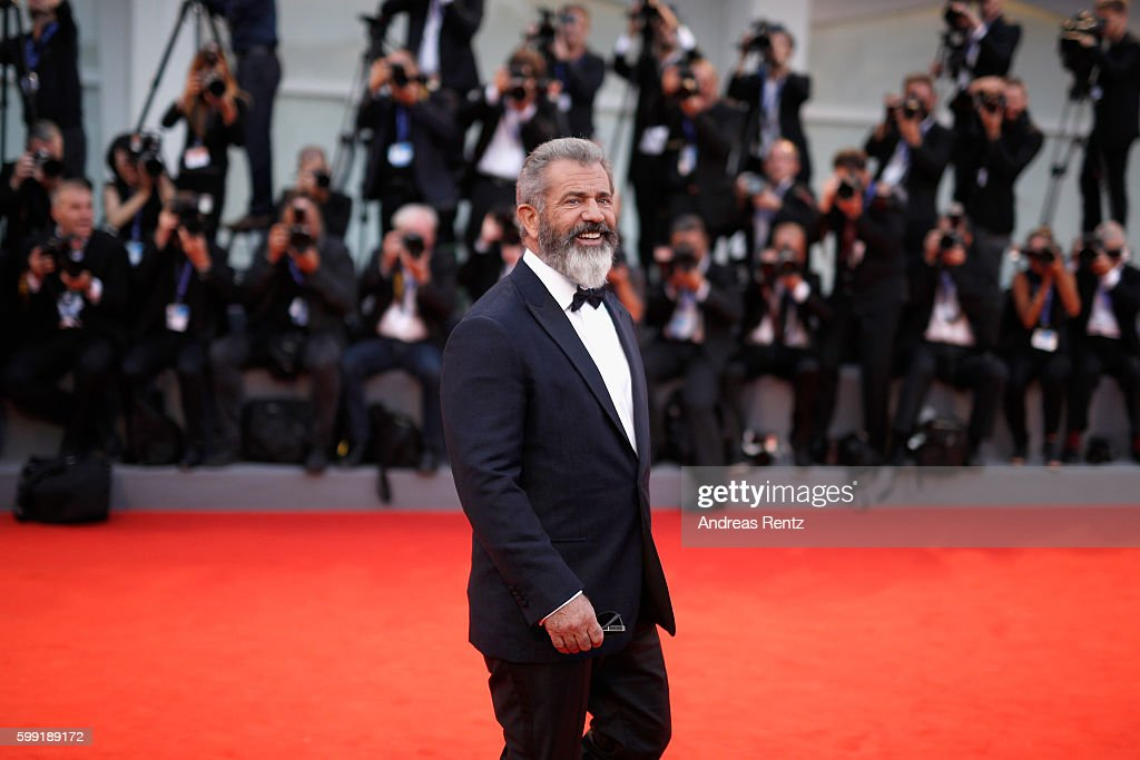 Director Mel Gibson attends the premiere of 'Hacksaw Ridge' during the 73rd Venice Film Festival at Sala Grande on September 4, 2016 in Venice, Italy.