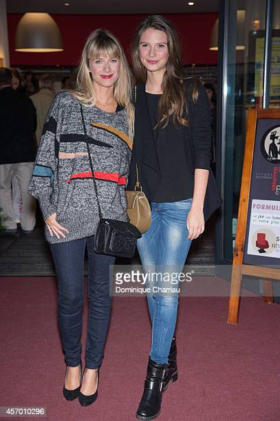 Director Melanie Laurent and Josephine Japy attend the 'Respire' Premiere as part of the 1st International Saint Jean De Luz Film Festival on October...