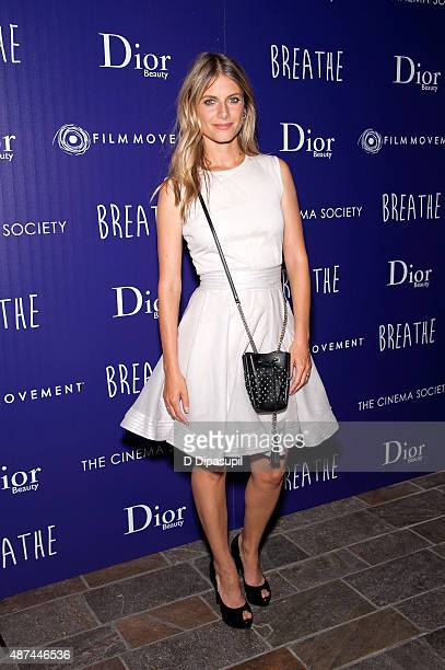 Director Melanie Laurent attends a screening of Film Movement's 'Breathe' hosted by The Cinema Society and Dior Beauty at Tribeca Grand Hotel on...