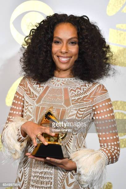Director Melina Matsoukas poses in the press room during The 59th GRAMMY Awards at STAPLES Center on February 12 2017 in Los Angeles California