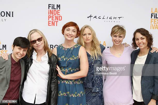 Director Melissa Finell and actors Amy Madigan Jill E Alexander Anna Lise Phillips Amy Vorpahl and Quinn Marcus attend the premiere of 'Sensitivity...