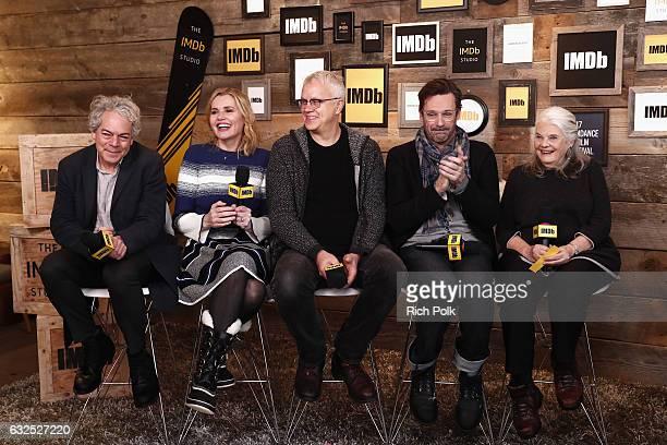 Director Michael Almereyda actors Geena Davis Tim Robbins Jon Hamm and Lois Smith of 'Marjorie Prime' attend The IMDb Studio featuring the Filmmaker...