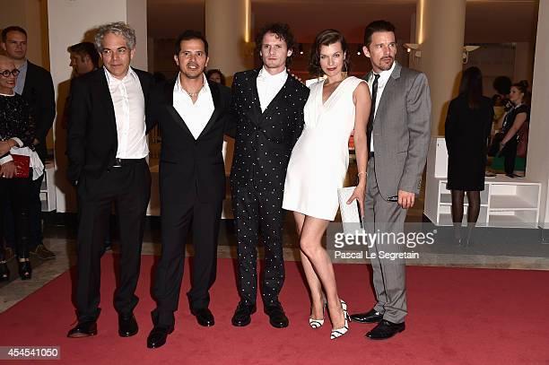 "Director Michael Almereyda with actors John Leguizamo, Anton Yelchin, Milla Jovovich and Ethan Hawke attend the ""Cymbeline"" premiere during the 71st..."