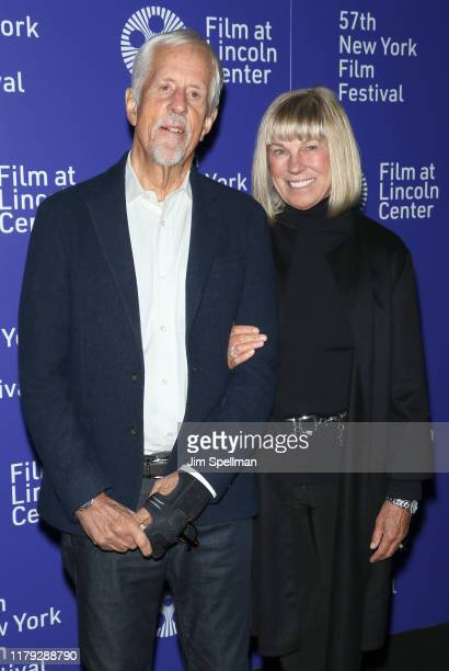 Director Michael Apted and Paige Simpson attend the 63 Up screening during the 57th New York Film Festival at Walter Reade Theater on October 05 2019...
