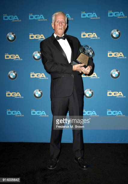 Director Michael Apted recipient of the DGA Honorary Life Member Award poses in the press room during the 70th Annual Directors Guild Of America...