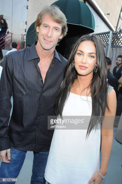 Director Michael Bay and actress Megan Fox attend the 2008 MTV Movie Awards at the Gibson Amphitheatre on June 1 2008 in Universal City California