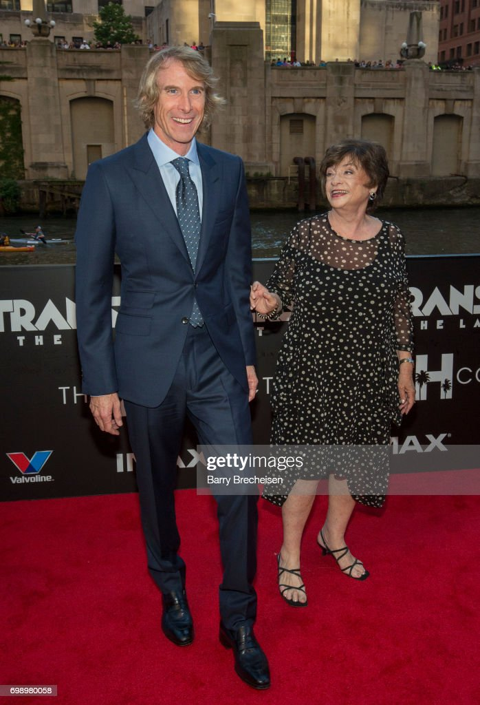 Director Michael Bay And His Mother Harriet Bay Appear At The Transformers The Last Knight