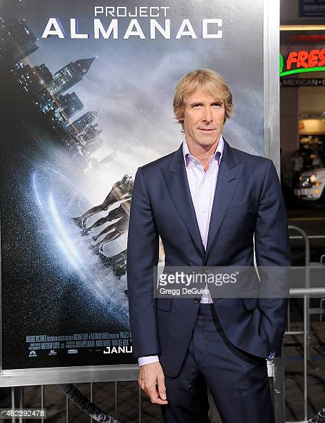 Director Michael Bay arrives at the Los Angeles premiere of 'Project Almanac' at TCL Chinese Theatre on January 27 2015 in Hollywood California