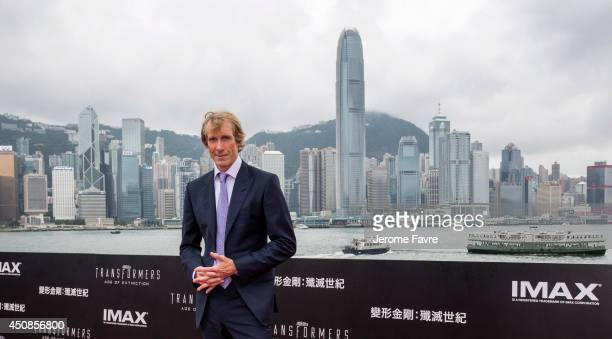 Director Michael Bay arrives at the worldwide premiere screening of Transformers Age of Extinctionat the on June 19 2014 in Hong Kong