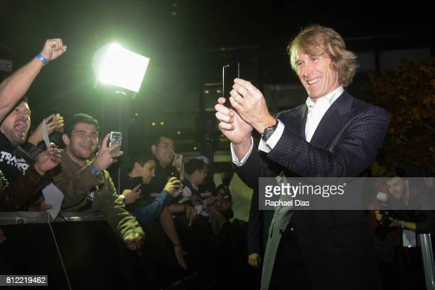 Director Michael Bay attends the Latin American premiere of Transformers The Last Knight at Cinepolis JK on July 10 2017 in Sao Paulo Brazil