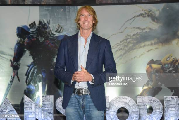 Director Michael Bay attends the 'Transformers The Last Knight' Latin America press junket at Hotel Unique on July 11 2017 in Sao Paulo Brazil