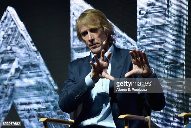 Director Michael Bay speaks onstage at CinemaCon 2017 Paramount Pictures Presentation Highlighting Its Summer of 2017 and Beyond at The Colosseum at...