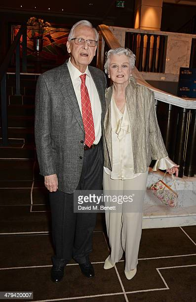 Director Michael Blakemore and Dame Angela Lansbury attend an after party celebrating the press night performance of 'Blithe Spirit' at the Rosewood...