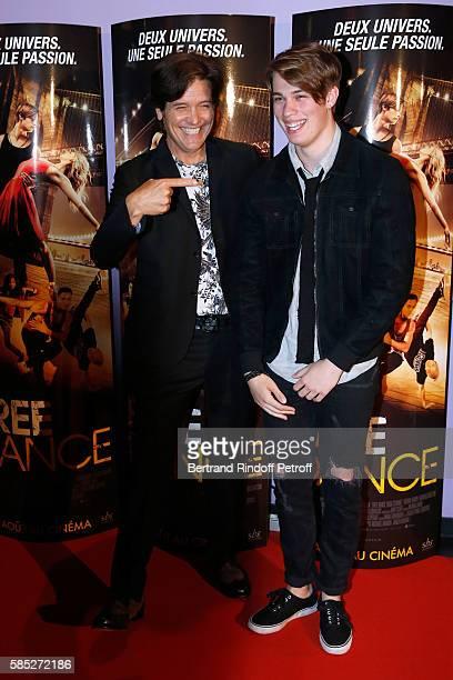 Director Michael Damian and actor Nicholas Galitzine attend the 'Free Dance' Paris Premiere at Gaumont Aquaboulevard on August 2, 2016 in Paris,...