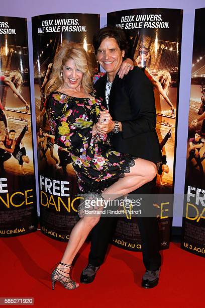 Director Michael Damian and producer Janeen Damian attend the 'Free Dance' Paris Premiere at Gaumont Aquaboulevard on August 2, 2016 in Paris, France.