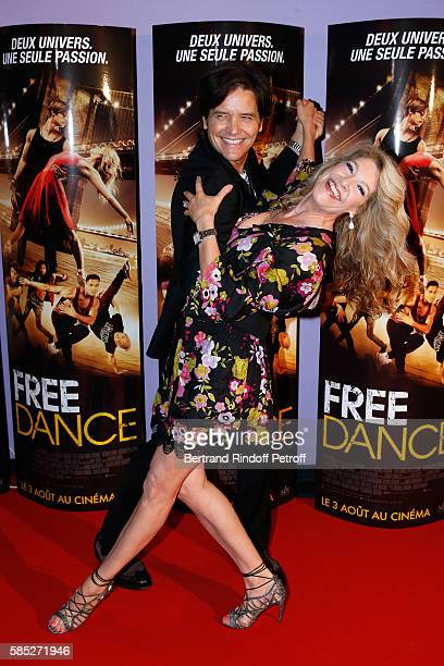 Director Michael Damian and producer Janeen Damian attend the 'Free Dance' Paris Premiere at Gaumont Aquaboulevard on August 2 2016 in Paris France