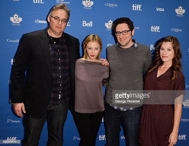 Director Michael Dowse actress Sarah Gadon screenwriter Elan Mastai and actress Meghan Heffern attend the Canada's Top Ten Film Festival 'The F Word'...