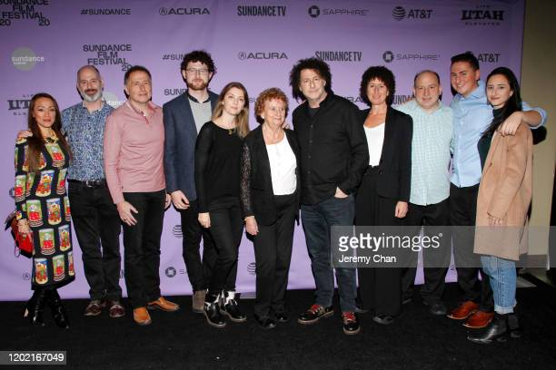 Director Michael Dweck and family attend the 2020 Sundance Film Festival The Truffle Hunters Premiere at Prospector Square Theatre on January 26 2020...