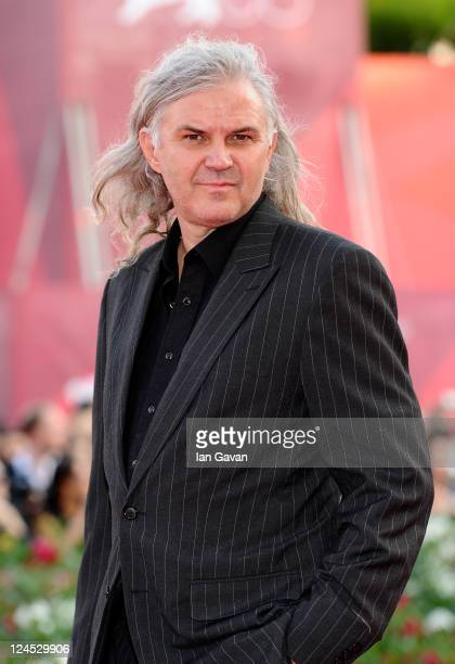 Director Michael Glawogger attends the Damsels In Distress premiere and closing ceremony during the 68th Venice Film Festival at Palazzo del Cinema...