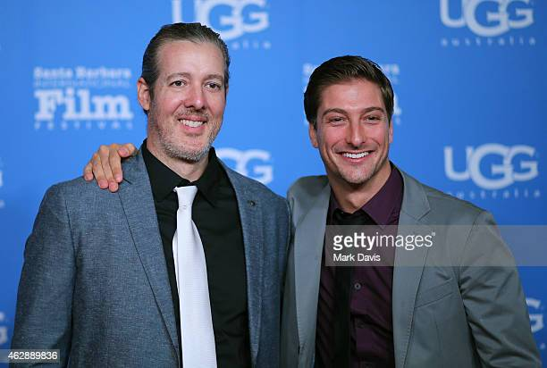 Director Michael Goode and actor Daniel Lissing of 'The Answers' attend the 2015 Outstanding Performer of the Year Award at the 30th Santa Barbara...