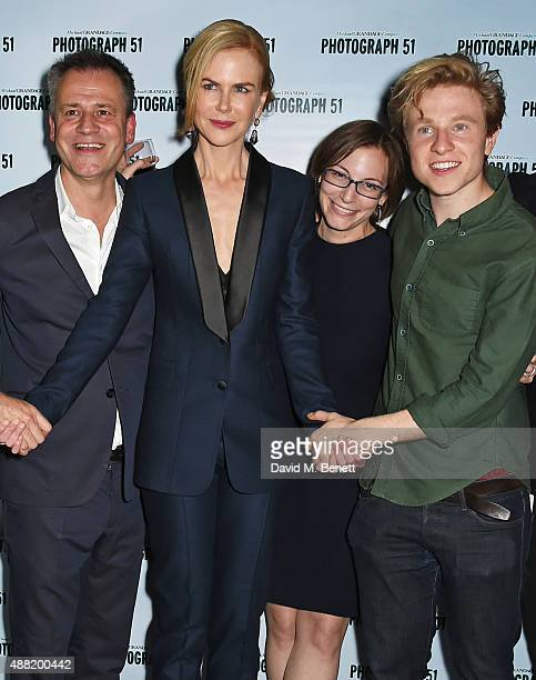 Director MIchael Grandage Nicole Kidman playwright Anna Ziegler and Will Attenborough attend the 'Photograph 51' press night after party at the The...