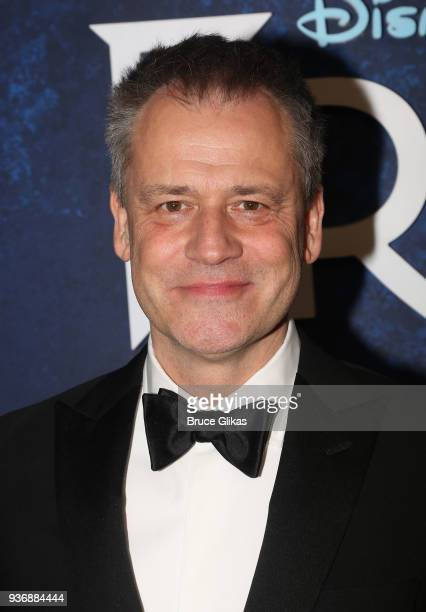 Director Michael Grandage poses at the opening night after party for Disney's new hit musical Frozen on Broadway at Terminal 5 on March 22 2018 in...
