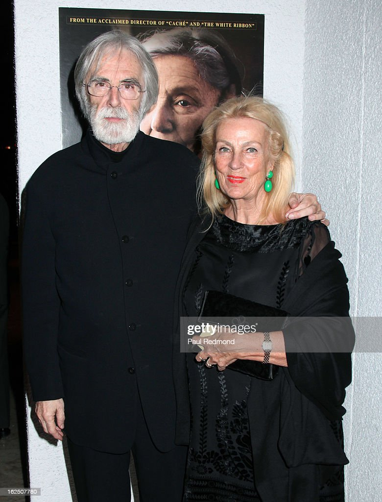 Director Michael Haneke and his wife set decorator Susanne Haneke attend Sony Pictures Classics Pre-Oscar Dinner at The London Hotel on February 23, 2013 in West Hollywood, California.